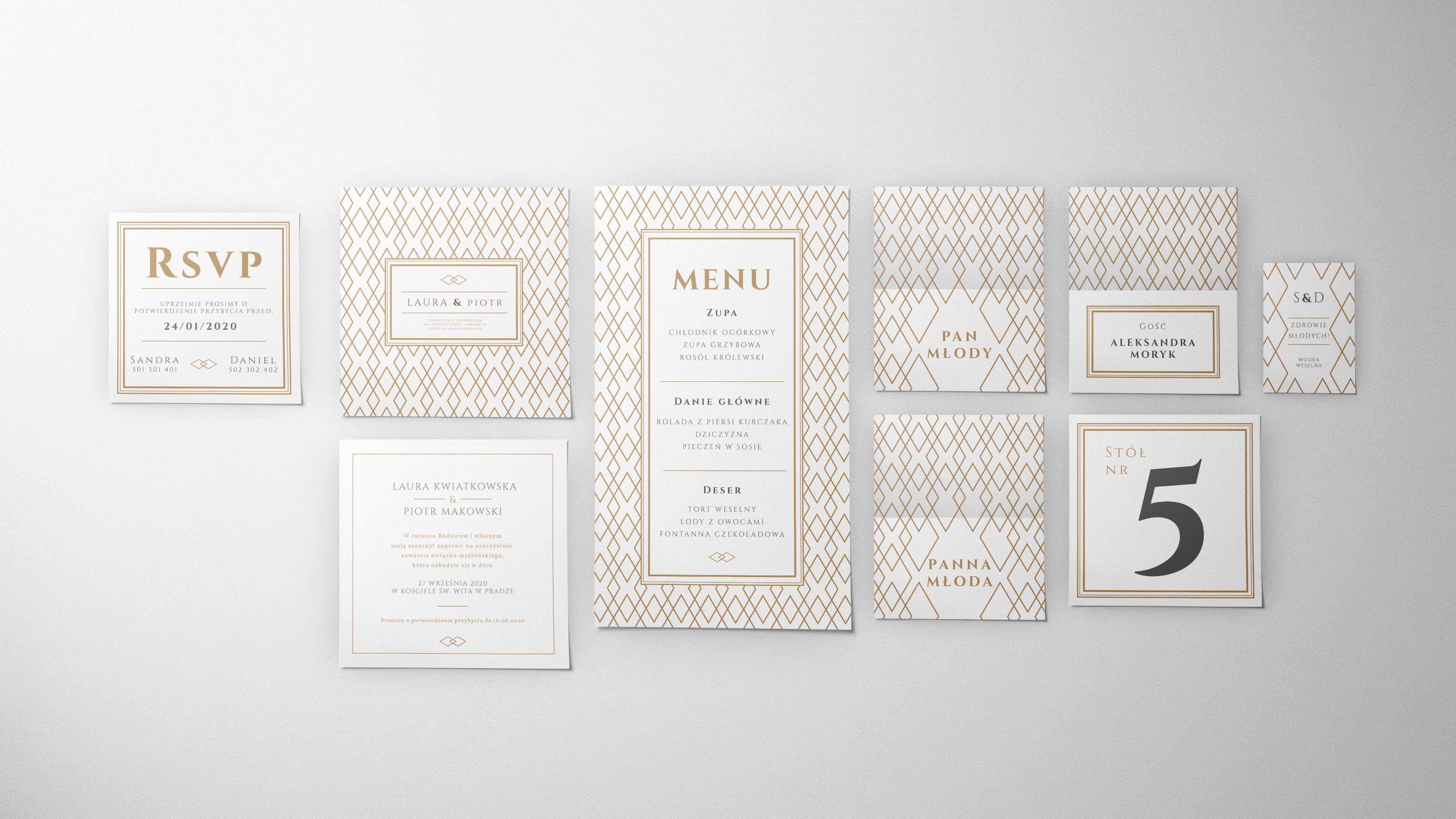 zaproszenia ślubne kolekcja C-01
