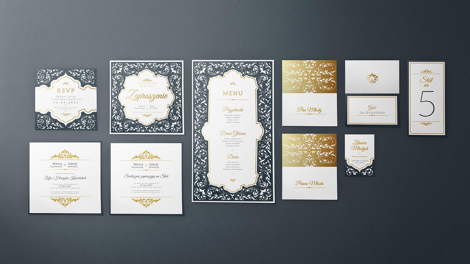 zaproszenia ślubne kolekcja V-01