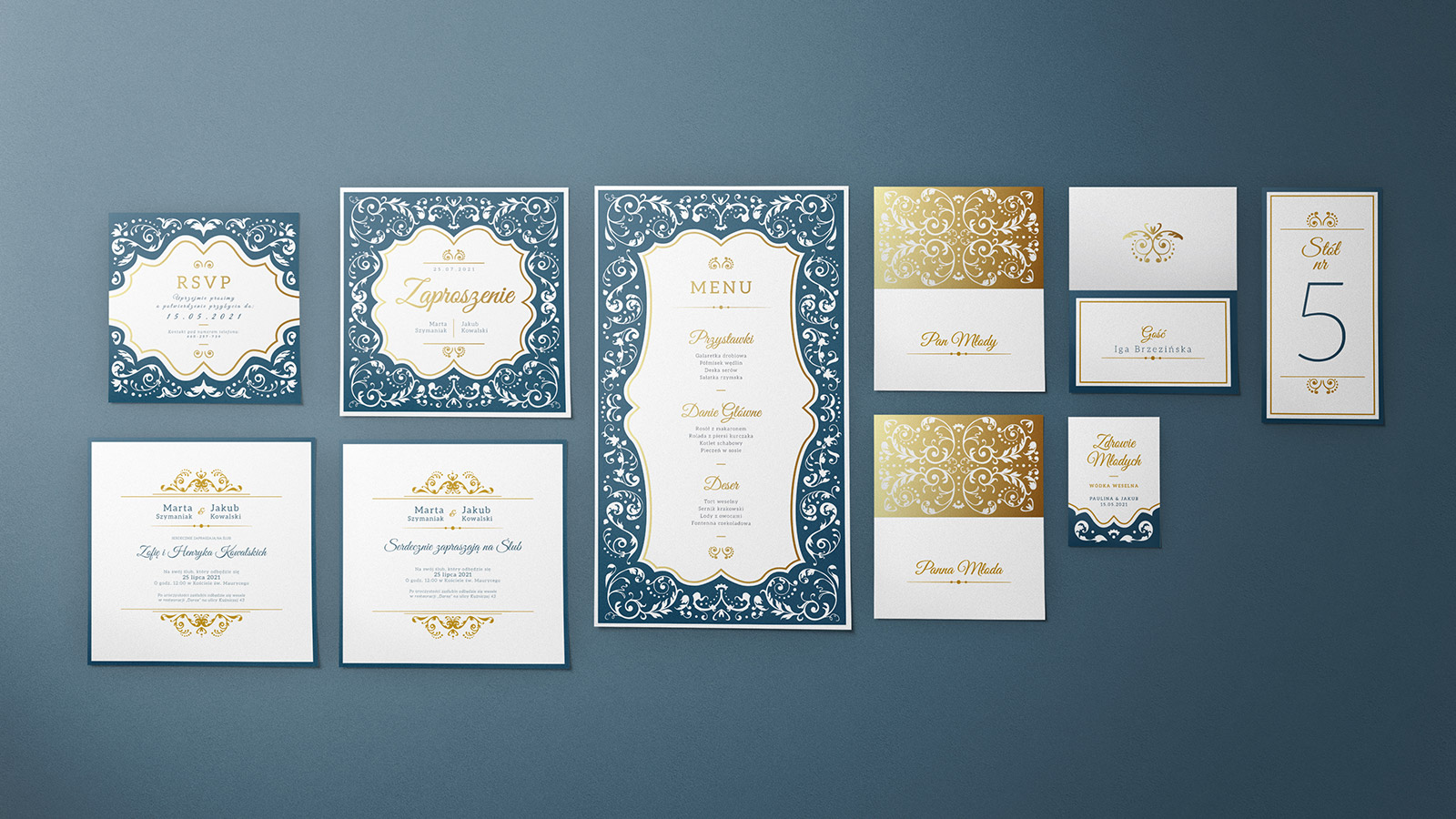 zaproszenia ślubne kolekcja V-02