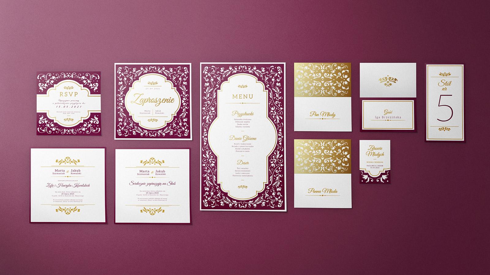 zaproszenia ślubne kolekcja V-03